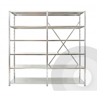 Expo 3 Galvanised Shelving Open  Starter Bays
