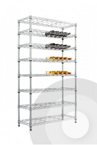 Full Height Chrome Wine Rack
