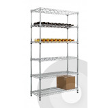 Full Height Chrome Wine Rack with Under Storage