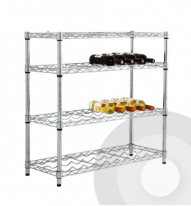 Low Height Chrome Wine Rack