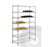 Medium Height Chrome Wine Rack