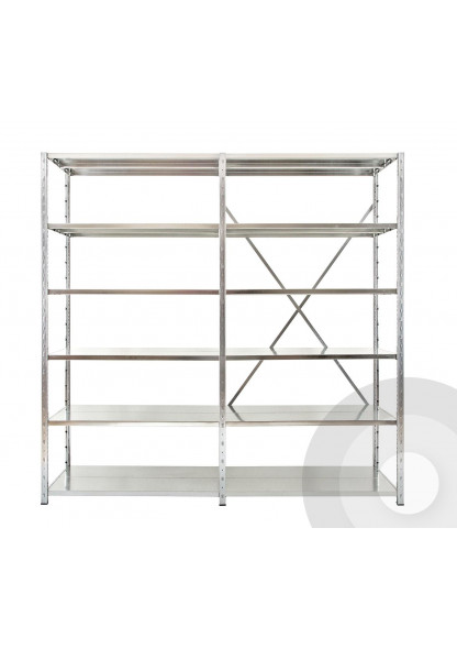Expo 3 galvanised shelving