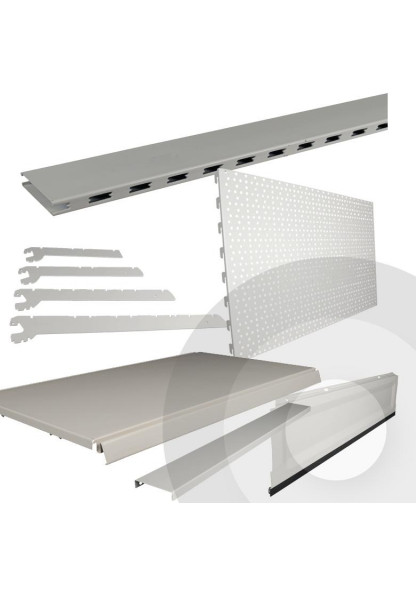 shop shelving components