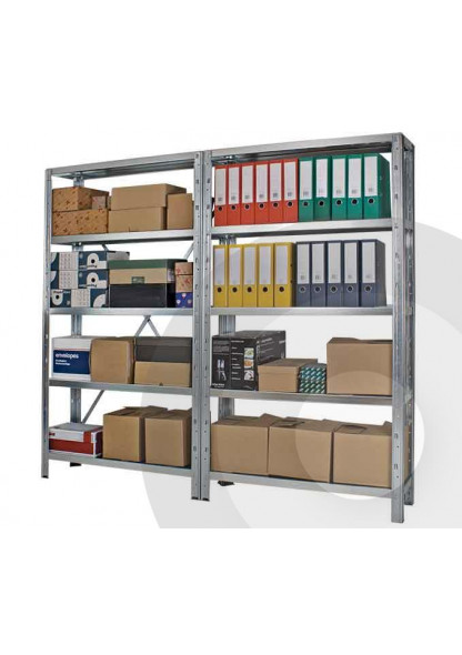 2 bays of Idea Plus boltless shelving