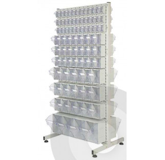Double Sided Tilt Bin Louvre Racks
