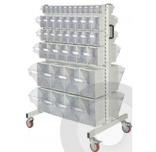 Rhino Tilt Bin kits with Louvre Trolleys