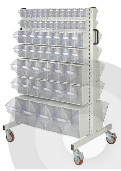 Tilt bin louvre trolley kit